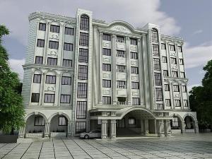 طراحی نمای پروژه هتل کانون بازنشستگان آجا(هتل سرافرازان)